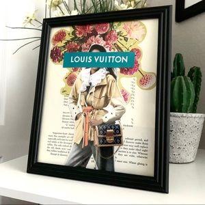 Louis Vuitton Theme Handmade 8x10 Fashion Collage